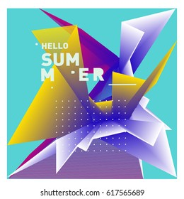 Vector Graphic Background Dynamic Effect. Gradient Abstract Vector Illustration. Design Template. Summer Season Modern Poster template.