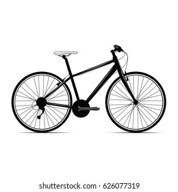 A vector graphic of a bicycle.