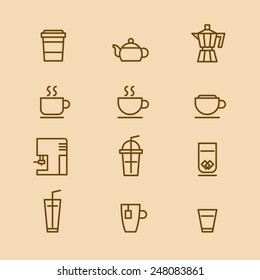 A vector graphic of coffee cup icon.