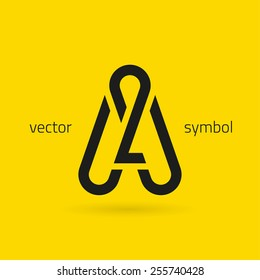 Vector graphic creative line alphabet symbol / Letter A
