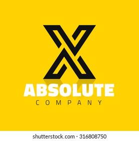 Vector Graphic Creative Line Alphabet Symbol Letter X
