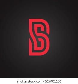 Vector graphic creative line alphabet / Symbol
