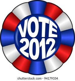 vector graphic depicting an 2012 election button