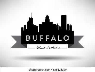 Vector Graphic Design of Buffalo City Skyline