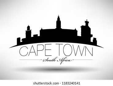 Vector Graphic Design of Cape Town City Skyline