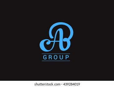 Vector graphic design element - AB letter