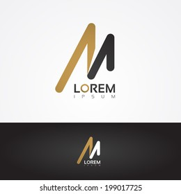 Vector graphic design element - M letter