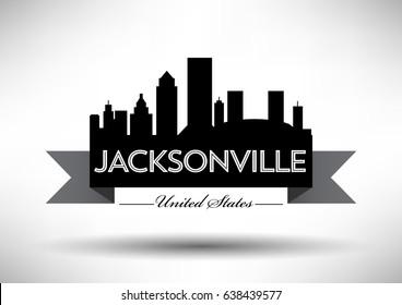 Vector Graphic Design of Jacksonville City Skyline