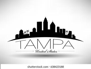 Vector Graphic Design of Tampa City Skyline