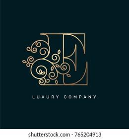 Vector graphic elegant logotype / Letter E