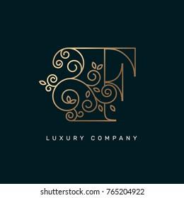 Vector graphic elegant logotype / Letter F