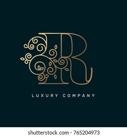 Vector graphic elegant logotype / Letter R