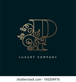 Vector graphic elegant logotype / Letter P