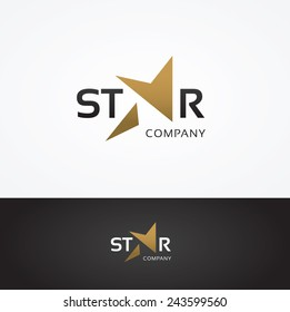 Vector graphic elegant star symbol for your company