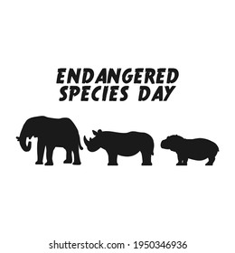 vector graphic of endangered species day good for endangered species day celebration. flat design. flyer design.flat illustration.