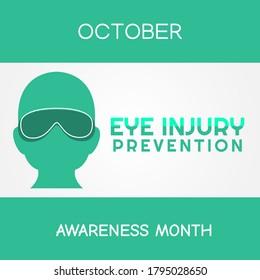 Vector graphic of Eye Injury Prevention Month good for Eye Injury celebration. flat design. flyer design.flat illustration.