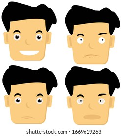 vector graphic of face expression