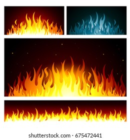 Vector graphic flames background