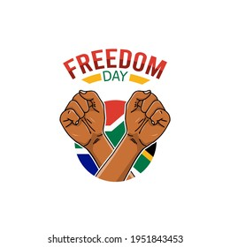 vector graphic of freedom day good for freedom day celebration. flat design. flyer design.flat illustration.