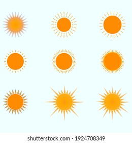 vector graphic: A group of shapes for the sun