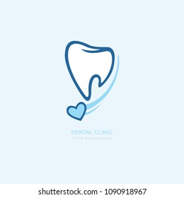 Vector graphic icon template for dental clinic. dentist treatment and health and mouth Hospital. Art illustration for your business. Logotype, Logo
