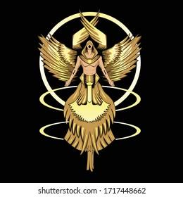 Vector Graphic Illustration of Seraphim Angel