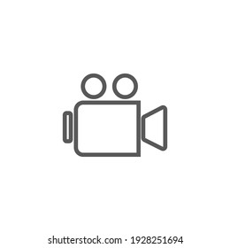 Vector graphic illustration of a simple camera video icon. Great for photography designs, photography contest posters, symbols, signs, etc