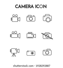Vector graphic illustration of a simple photography icon. Great for photography designs, photography contest posters, symbols, signs, etc