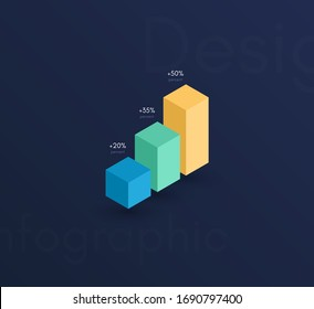 Vector graphic infographics. Template for creating web applications, workflow layout, diagram, banner, modern design, business infographic. Stock vector