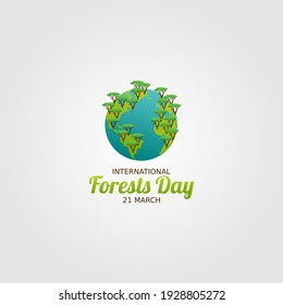 vector graphic of international day of forests good for day of forests celebration. flat design. flyer design.flat illustration.