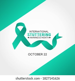 Vector graphic of international stuttering awareness month good for  international stuttering awareness month celebration. flat design. flyer design.flat illustration.