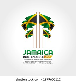 vector graphic of Jamaica independence day good for Jamaica independence day celebration. flat design. flyer design.flat illustration.