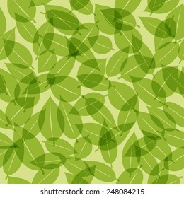 A vector graphic of leaf pattern for green tea