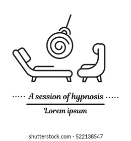 Vector graphic logo, icon. Hypnosis and hypnotherapy.Trance. Clinic logo, Hypnosis treatment.