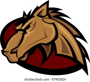 Vector Graphic Mascot of a Mustang Bronco Horse