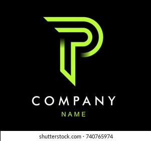 Vector graphic modern design font / symbol / alphabet / Letter P