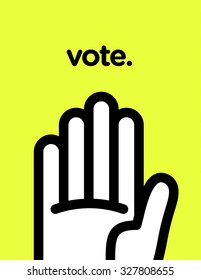 Vector graphic poster of voting with cool and modern design