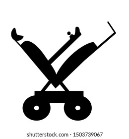 Vector graphic of a power wheelchair in 'tilt mode' to relieve pressure and avoid ulcers.