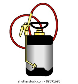 vector graphic of a professional bug sprayer, one an exterminator might use