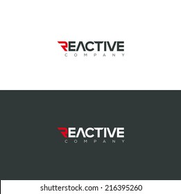 Vector graphic Reactive typography symbol for you company in positive and negative