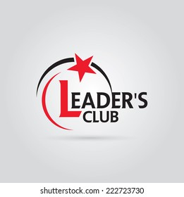 Vector graphic red and black symbol for company leaders with star shape