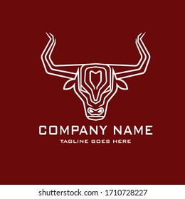 Vector Graphic Of Red Bull Logo. For Stable, farm,Valley,Company, Race logo design.