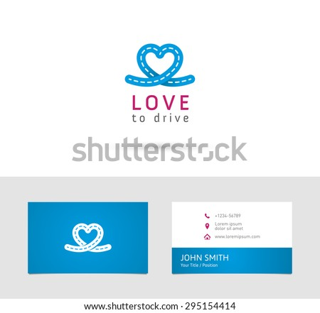 Vector Graphic Road Heart Symbol About Stock Vector Royalty Free