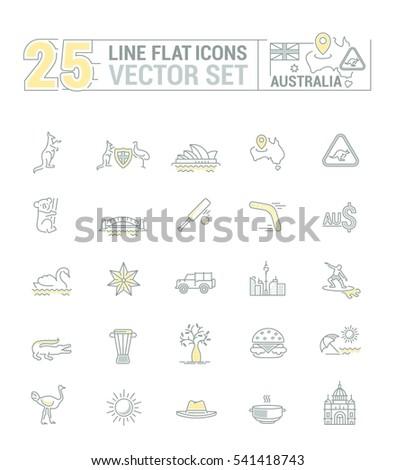 Vector Graphic Set Silhouette Logo Icon Stock Vector