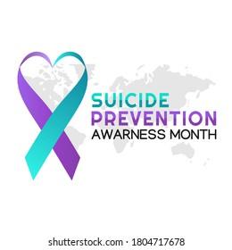 Vector graphic of suicide prevention awareness month good for suicide prevention awareness month celebration. flat design. flyer design.flat illustration.