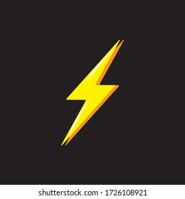 Vector Graphic of Thunder and Bolt Lighting Flash Icon.
