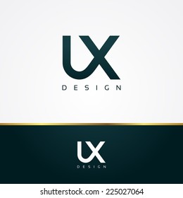 Vector graphic UX / User Experience / type symbol for your company