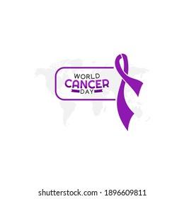 vector graphic of world cancer day good for world cancer day celebration. flat design. flyer design.flat illustration.