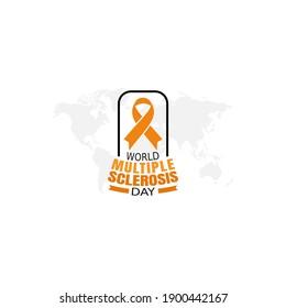 vector graphic of world multiple sclerosis day good for world multiple sclerosis day celebration. flat design. flyer design.flat illustration.