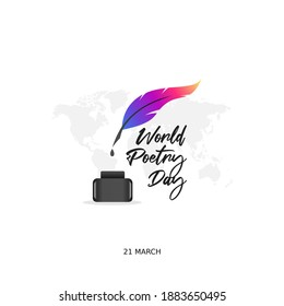 vector graphic of world poetry day good for world poetry day celebration. flat design. flyer design.flat illustration.